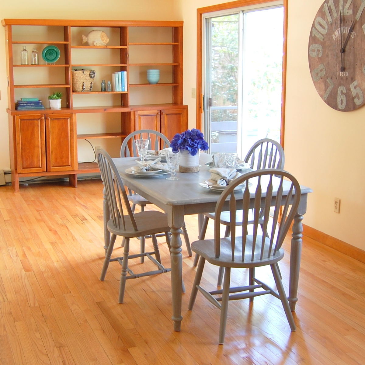 Staged dining room Cape Cod